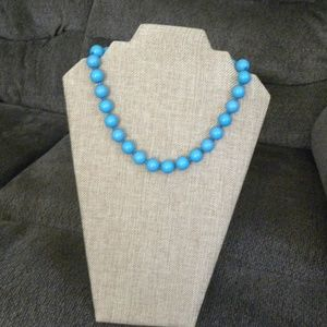 Blue Beaded Short Necklace